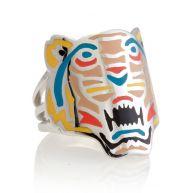 Kenzo Gekleurde tijger ring