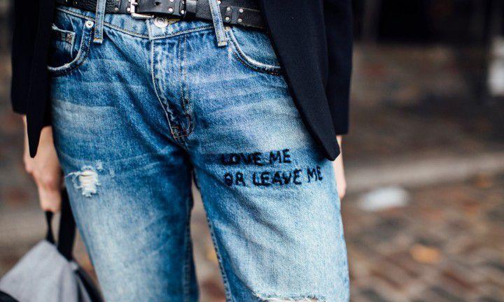 Handig! Zo fix je een uitgelopen jeans