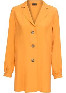 Dames blouse lange mouw in geel