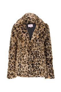 Dames Jas print fake fur