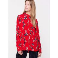 tassel print shirt red