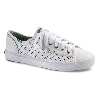 Kickstart Retro Perf Leather White/Green