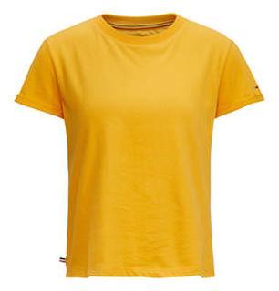 T-shirt met opgerolde mouwen