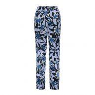 Sissy-Boy regular fit pantalon met bloemen blauw
