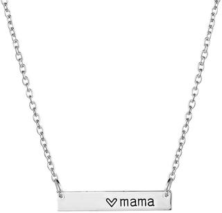 Verzilverde Mama ketting - mama cadeau - kraamcadeau - moederdag cadeau - geschenk voor mama - mama kado - mama sieraad