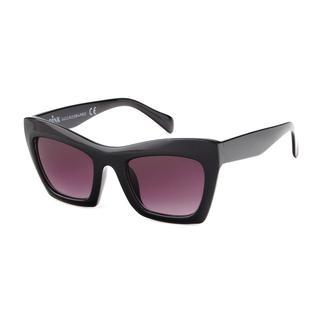 Bruine zonnebril met grote bruine glazen