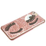 iPhone 5/5s/SE hoesje - Wink pailletten glitter roze