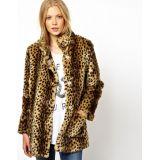 ASOS Longline Animal Fur Coat.