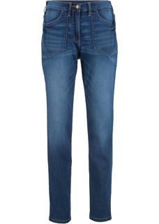 Dames high waist stretch jeans in blauw