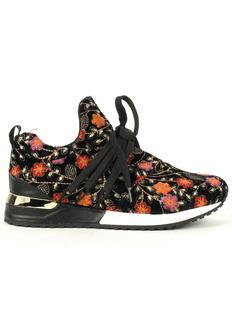 966453 SNEAKERS Sneakers 4601 black embroidery velvet