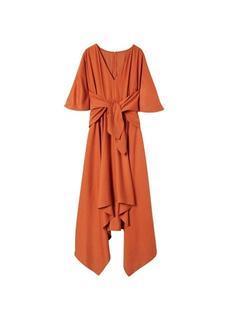 Lange jurk met strik