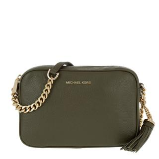 Cross Body Bags Ginny MD Camera Leather Bag Olive in groen voor dames