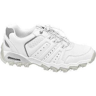 Witte wandelschoen strass