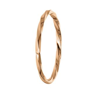 Zilveren ring roseplated twist