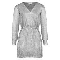 Coated Wrapped Dress - Silver