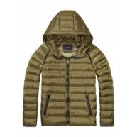 Jas - Ultralight Hooded Down Jacket Army Green