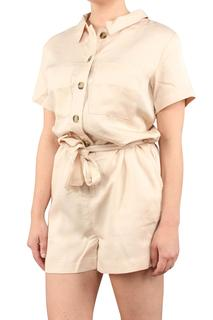 tencel belted cargo playsuit