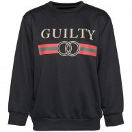 BLACK GUILTY SWEATER-M/L