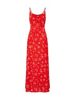 Zomerjurk 'Floral Cami Maxi Dress Red'