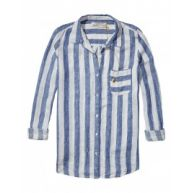 Blouse - Lost And Found White/Blue