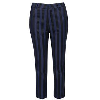 Black & Blue Striped Pants