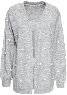 Dames oversized vest lange mouw in grijs