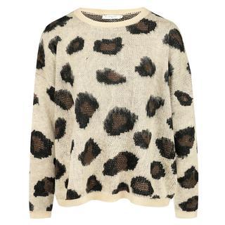 Beige Sweater Leopard
