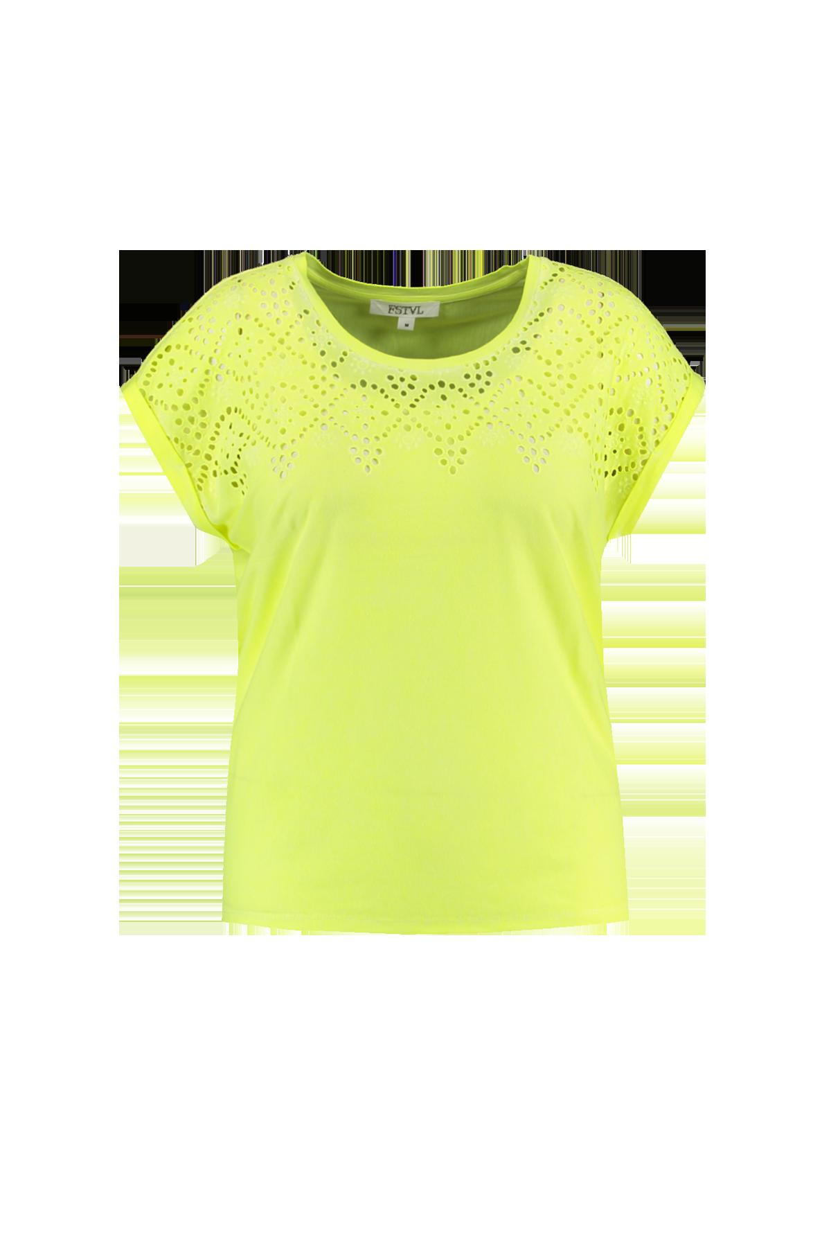By Mode Dames Embroidery T Groen Fstvl shirt Ms Met lKJF1c