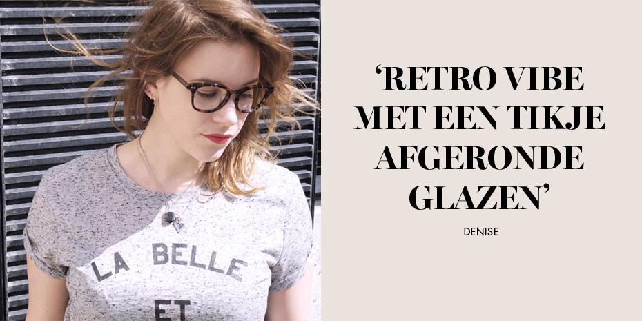 retro vibe met een tikje afgeronde glazen