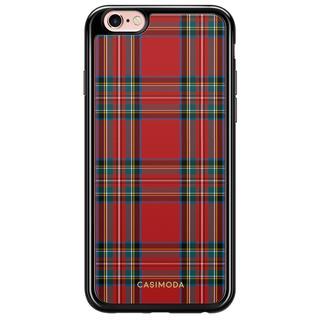iPhone 6/6s siliconen zwart hoesje - Tweed lover