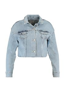 MS Mode Dames Cropped denim jasje Denim