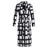 NAKD CHECKED COAT Mantel black/white