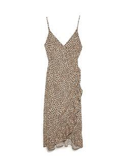 Double-breasted lange jurk Steen