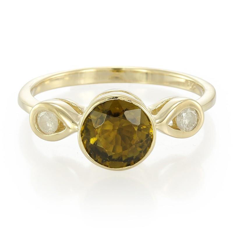 Juwelo Gouden ring met een koper toermalijn Gratis Verzending Authentieke o20h5