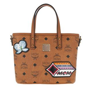 Tote - Anya Victory Patch Visetos Shopper Mini Cognac in cognac voor dames - Gr. Mini