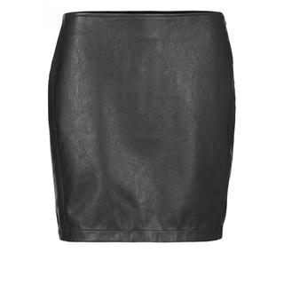Faux Leather Mini Skirt With S