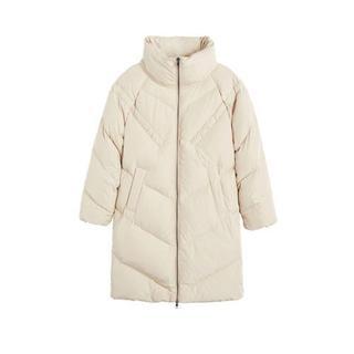 winterjas beige Gewatteerde jas (Dames) - Dames