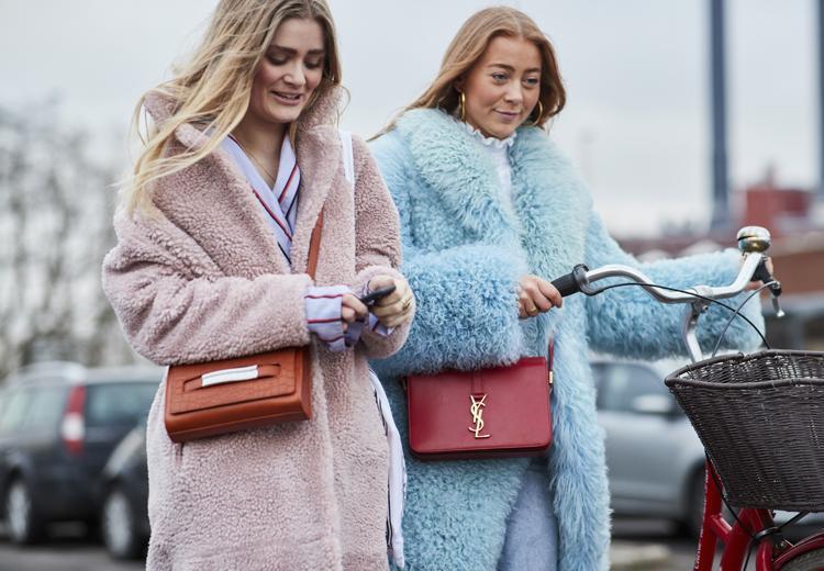 Iedereen aan de gekleurde faux fur