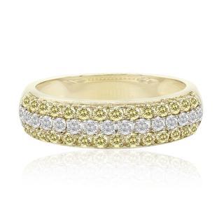Gouden ring met kanarie gele Diamanten SI ()