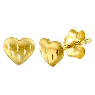 Geelgouden oorbellen hart