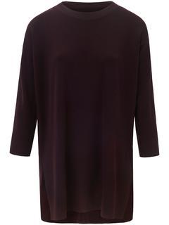 Lange trui van 100% scheerwol rood