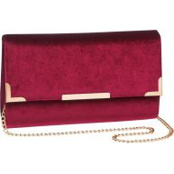 Bordeaux velvet clutch