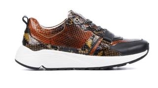 Dames Sneakers in Leder (Cognac)