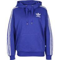 Adidas 3 Stripe W Hoodies hoodie blauw blauw