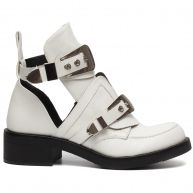 BUCKLE UP BOOTS WHITE-41