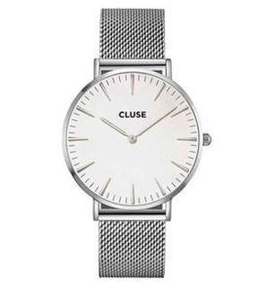 La Boheme Mesh Silver/White Horloge