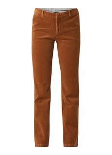 Cassie mid rise straight fit pantalon van corduroy