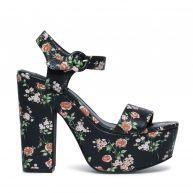 Plateau sandalen met bloemenprint