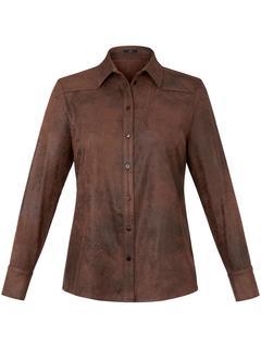 Overhemd met lange mouwen bruin