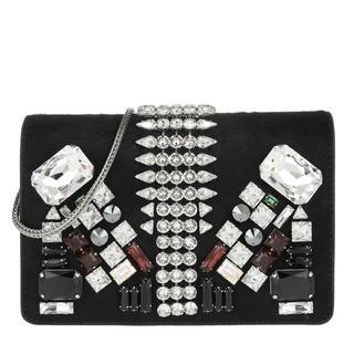 Tasche - Romantic Chandlier Clutch Small Black in zwart voor dames - Gr. Small